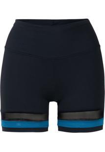 Track & Field Bermuda Bicolor Com Logo - Azul