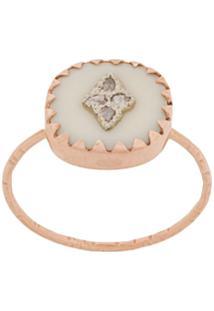 Pascale Monvoisin 9Kt Rose Gold Pierrot White Ring - Metálico