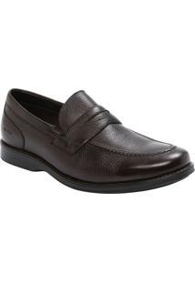 Sapato Social Em Couro Texturizado Com Vazado- Cafémr. Cat