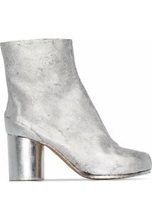 Maison Margiela Ankle Boot Tabi Com Salto 80Mm - Prateado