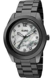 Relógio Euro Feminino Marmorizados Eu2036Ykt/4B - Preto