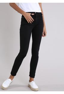 CEA. Calça De Sarja Feminina Super Skinny Cintura Alta Preta 22382c0146b
