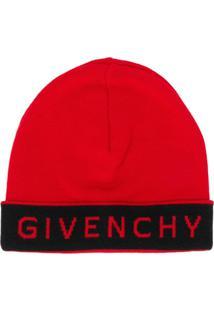 Givenchy Gorro Com Logo - Vermelho