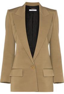 Givenchy Blazer Longo Com Abotoamento Simples - Neutro