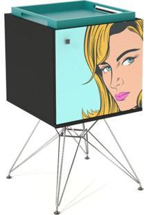 Armario Base Eiffel 1 Porta Blond Woman Bandeja - 31888 - Sun House