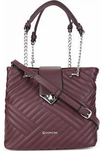 Bolsa Dumound Handbag Soft Napa Feminina - Feminino-Vinho