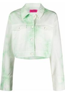 Ireneisgood Jaqueta Jeans Com Patch De Logo - Verde