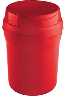 Lixeira Plástica P/ Pia 2,4Lt - Sanremo Vermelha Cód. 5467