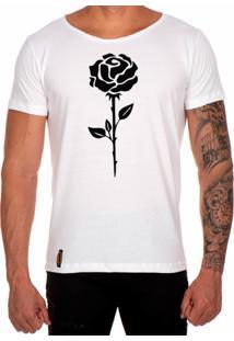 Camiseta Lucas Lunny T Shirt Gola Canoa Estampada Rosa Preta