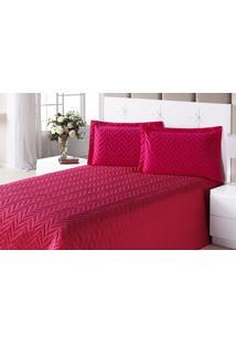Colcha Clean Casal Pink Com 4 Peças Algodão E Poliester - Aquarela, - Kanui