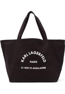 Karl Lagerfeld Rue Saint Guillaume Tote Bag - Preto