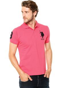 Camisa Polo U.S. Polo Classic Coral