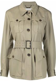 Chloé Multiple-Pocket Design Belted-Waist Jacket - Neutro