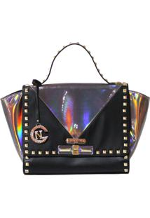 Bolsa Nicole Lee Sian Hologram Black
