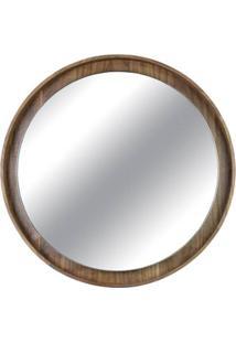 Espelho Lua Borda Nogueira 40Cm - 60295 - Sun House