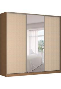 Guarda-Roupa Casal Com Espelho Tunas I 3 Pt 3 Gv Marrom E Noce