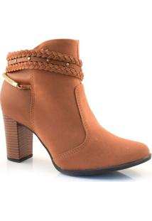 Ankle Boots De Salto Bloco Mississipi