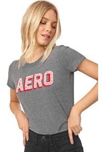 Camiseta Aeropostale Renda Cinza