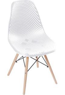 Cadeira Eames Colmeia- Branca & Madeira Clara- 82,5Xor Design