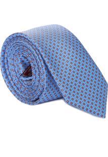 Gravata Flores Poá - Azul
