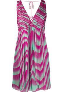 Just Cavalli Vestido Tie-Dye - Roxo
