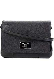 Bolsa Petite Jolie Mini Bag Verniz One Feminina - Feminino-Preto