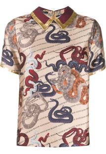 Scotch & Soda Blusa Snake Artwork - Neutro