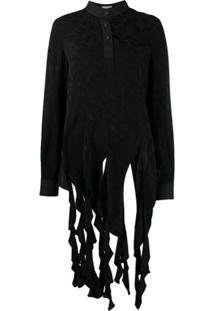 Loewe Asymmetric Paisley Blouse - Black