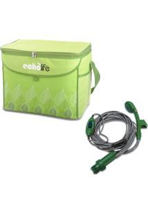 Kit Bolsa Térmica Green 38 Litros Echolife + Chuveiro Para Camping 2V Guepardo Shower