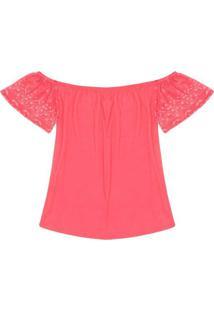 Blusa Ciganinha Rovitex Rosa