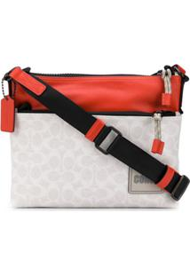 Coach Bolsa Carteiro Color Block Com Logo - Neutro