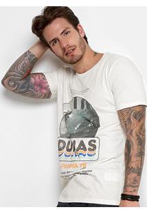 Camiseta Redley Tinturada Estampada Masculina - Masculino-Off White