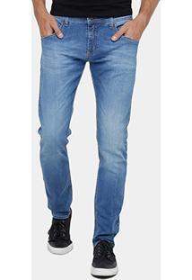 Calça Jeans Colcci John Indigo Estonada Masculina - Masculino