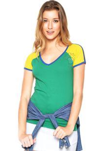 Camiseta Das Avessas Bicolor Verde