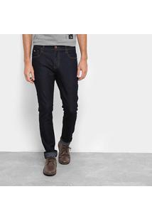 Calça Jeans Acostamento Slim Masculina - Masculino-Azul Escuro