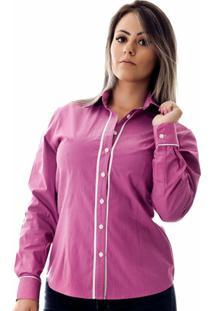 Camisa Pimenta Rosada Poá Andy - Feminino-Lilás