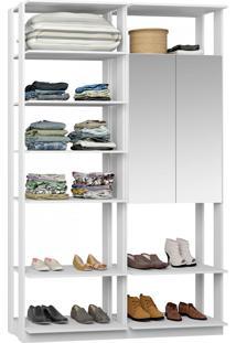 Closet Modulado 1 Armário C/ Espelho Clothes 9012 – Be Mobiliário - Branco
