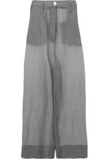 b92ce71be R$ 4212,00. Farfetch Erika Cavallini Calça Pantalona Translúcida - Cinza