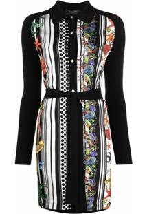 Versace Vestido Com Estampa Trésor De La Mer - Preto