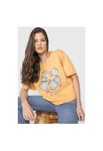 Camiseta Colcci Vitória Régia Amarela