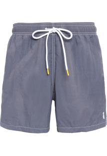 Short Masculino Praia Liso - Cinza
