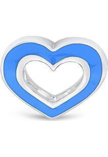 Pingente Life Coraã§Ã£O Azul