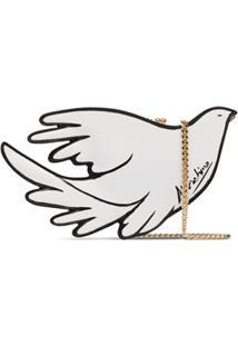 Moschino Bolsa Tiracolo Bird - Branco