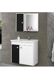 Conjunto Para Banheiro Munique - Branco Preto - Aladdin