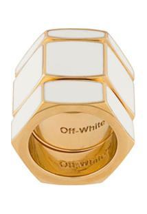 Off-White Anel Hex Nut - Branco