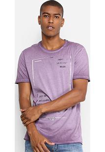Camiseta Forum Estonada Masculina - Masculino-Roxo