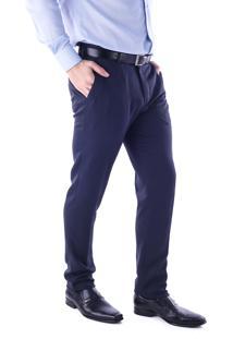 Calça 5555 Social Traymon Modelagem Skinny Azul