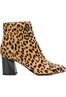 Kendall+Kylie Ankle Boot 'Hadlee' Com Estampa Leopardo - Marrom