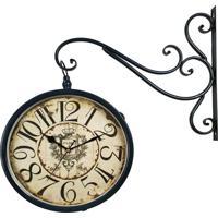 26b9b0447a3 Relógio De Parede Decorativo Com Suporte - Face Dupla - Estação Ferroviária  De Paris R3P Import