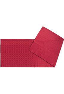 Toalha De Mesa Geométrica- Vermelha & Bordô- 220X140Sultan